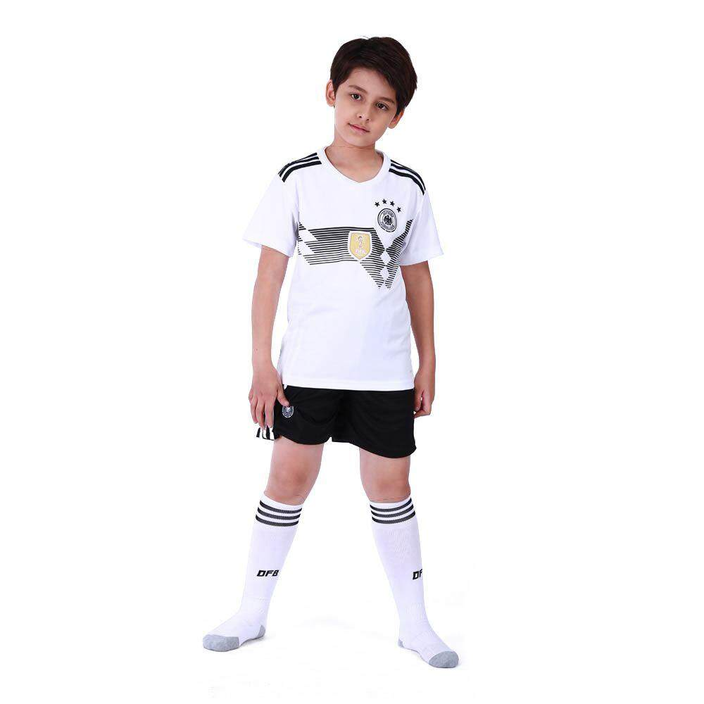 Family Breathable Sportswear Soccer Set World Cup Germany Soccer Jerseys Uniforms Football Kit Shirt Tracksuit(Kids,XS)