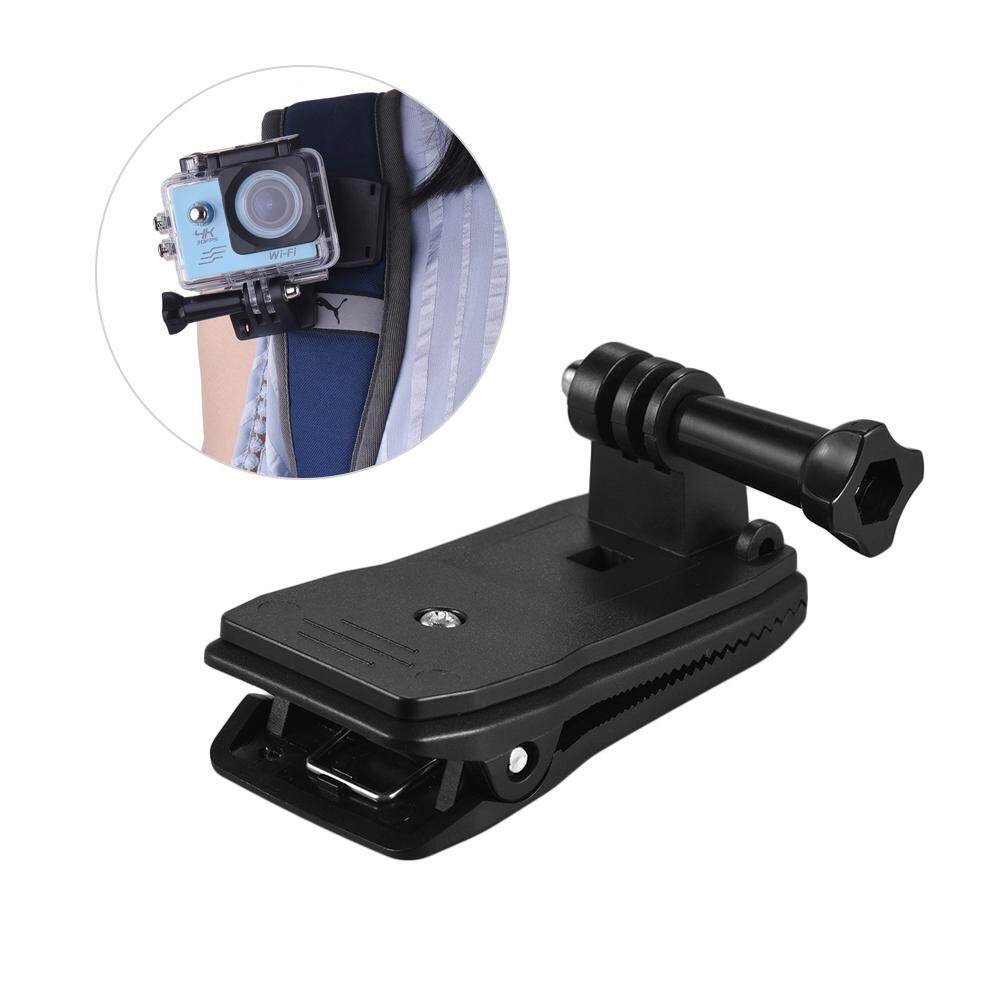 Backpack Strap Cap Clip Mount 360 Degree Rotary Clamp Arm for GoPro Hero 6/5/4/3+ for Xiaomi Yi Lite 4K + Action Camera