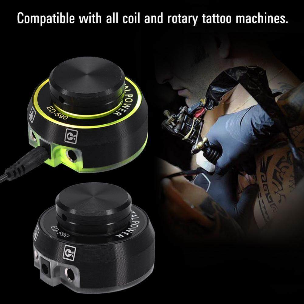 Mini Tattoo Digital Power Supply with Knob to Adjust Voltage 2 Foot Pedal Mode Black