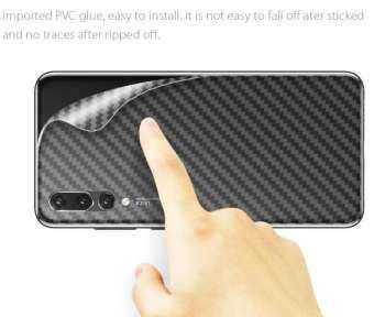 สำหรับ Huawei Y9 (2019) คาร์บอนไฟเบอร์ป้องกันฟิล์ม-