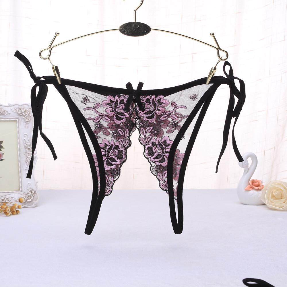 Underpants Ultra Thin Briefs G String Thongs Lace Panties Hollow Knickers