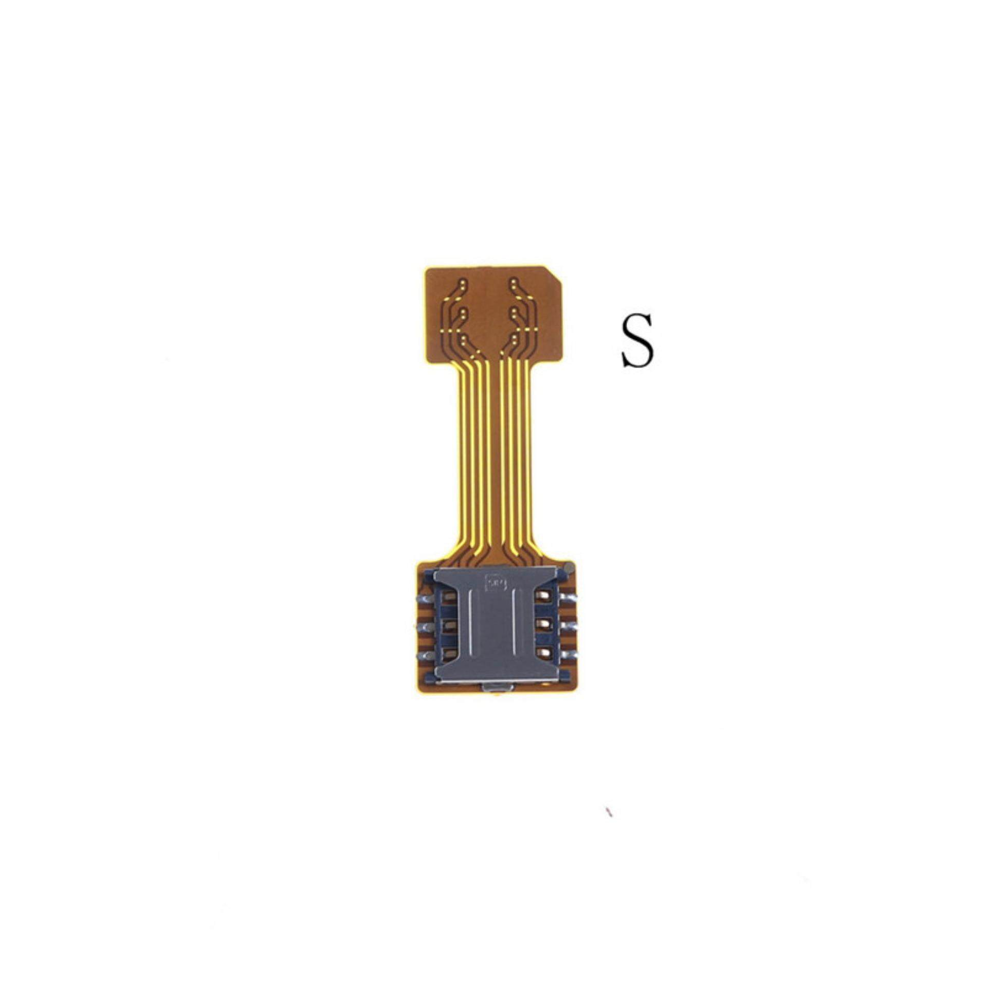 TF Hybrid Sim Slot Dual SIM Card Adapter Micro SIM Card Extender Android  Phone Useful