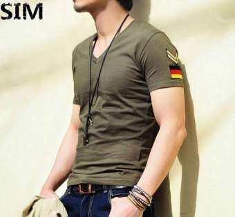 SIM korea casual man t shirt men t-shirt short sleeve lengan pendek baju lelaki raya-