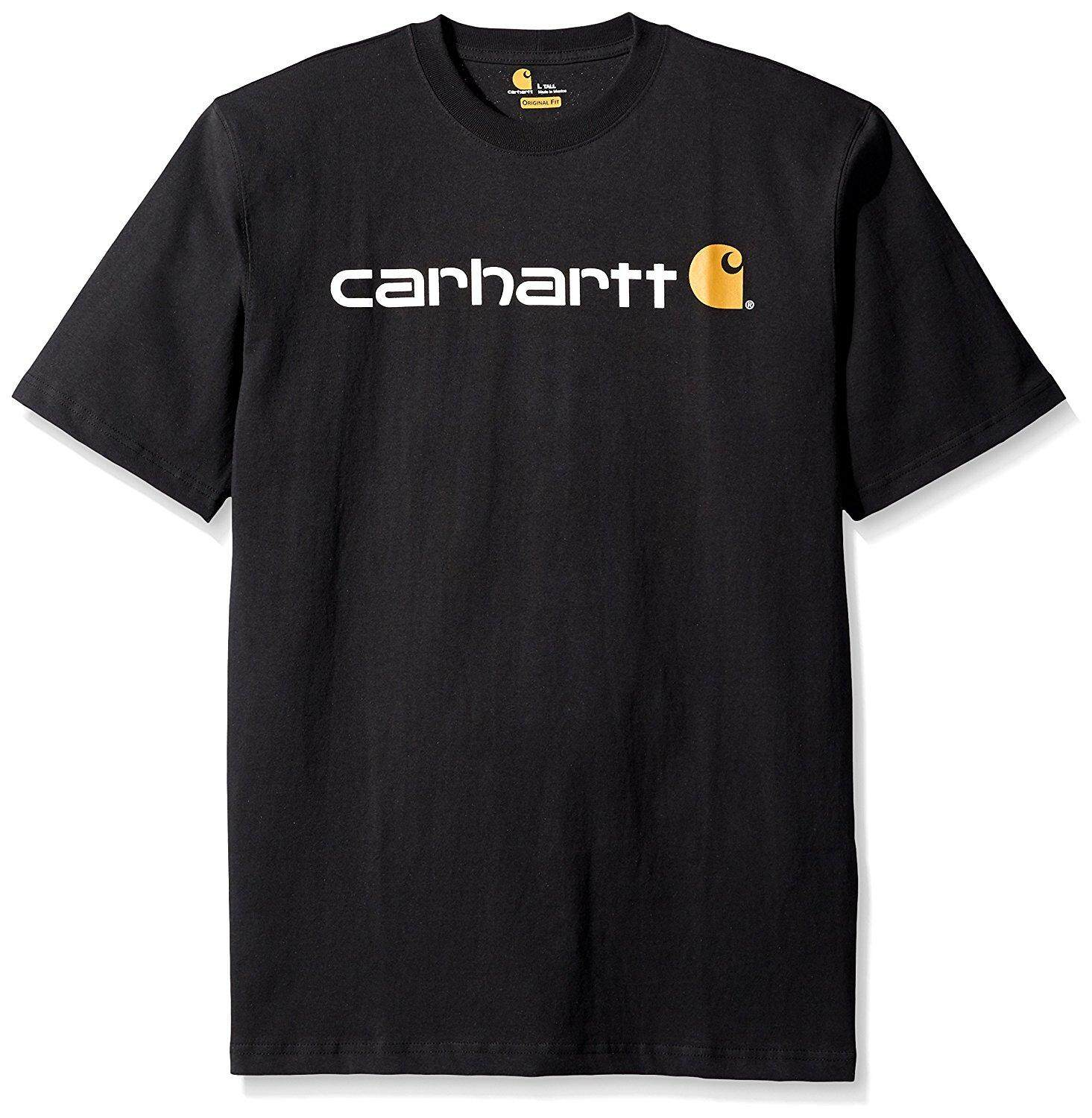 Carhartt Mens Big and Tall Big /& Tall Signature Logo Short Sleeve T-Shirt