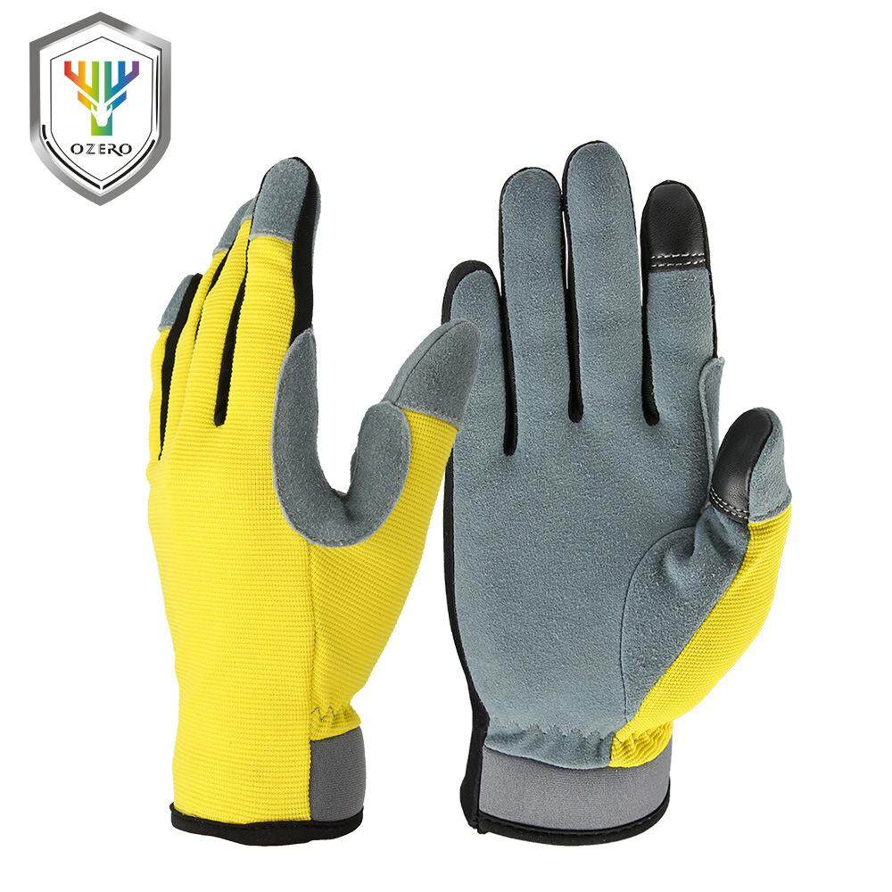 Aozhe Two-layer Buckskin Warm Riding Gloves Autumn And Winter Outdoor Mountaineering Wear-resistant Touch Gloves