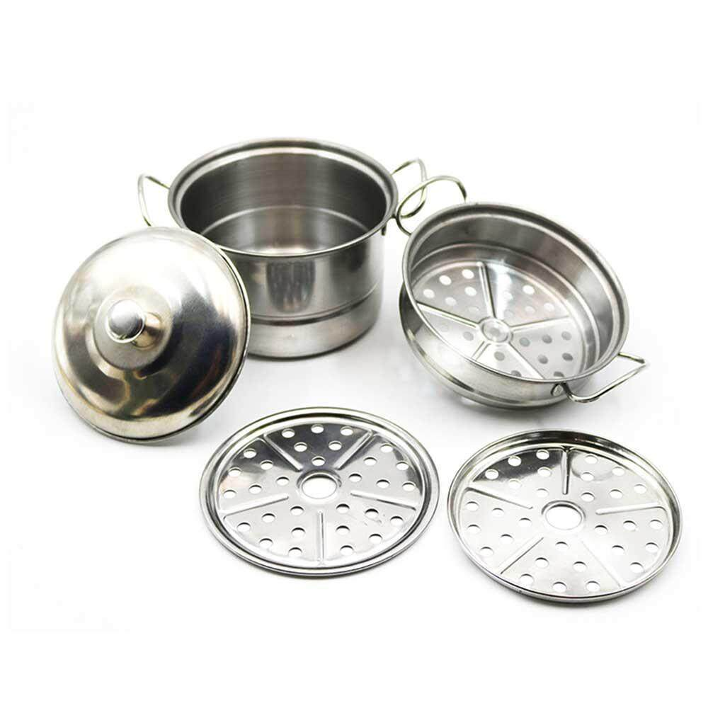 GoodGreat Stainless Steel Pretend Play Kitchen Set for Kids,Cooking Toy Cookware Play Set (5 Pcs)