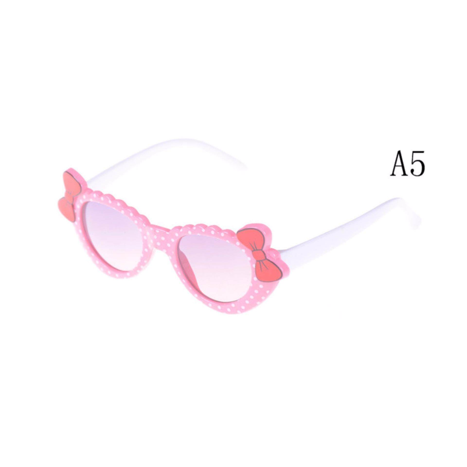 Fashion Boys Girls Kids Sunglasses Glass Child Goggles Bow Eyewear UV 400  A5