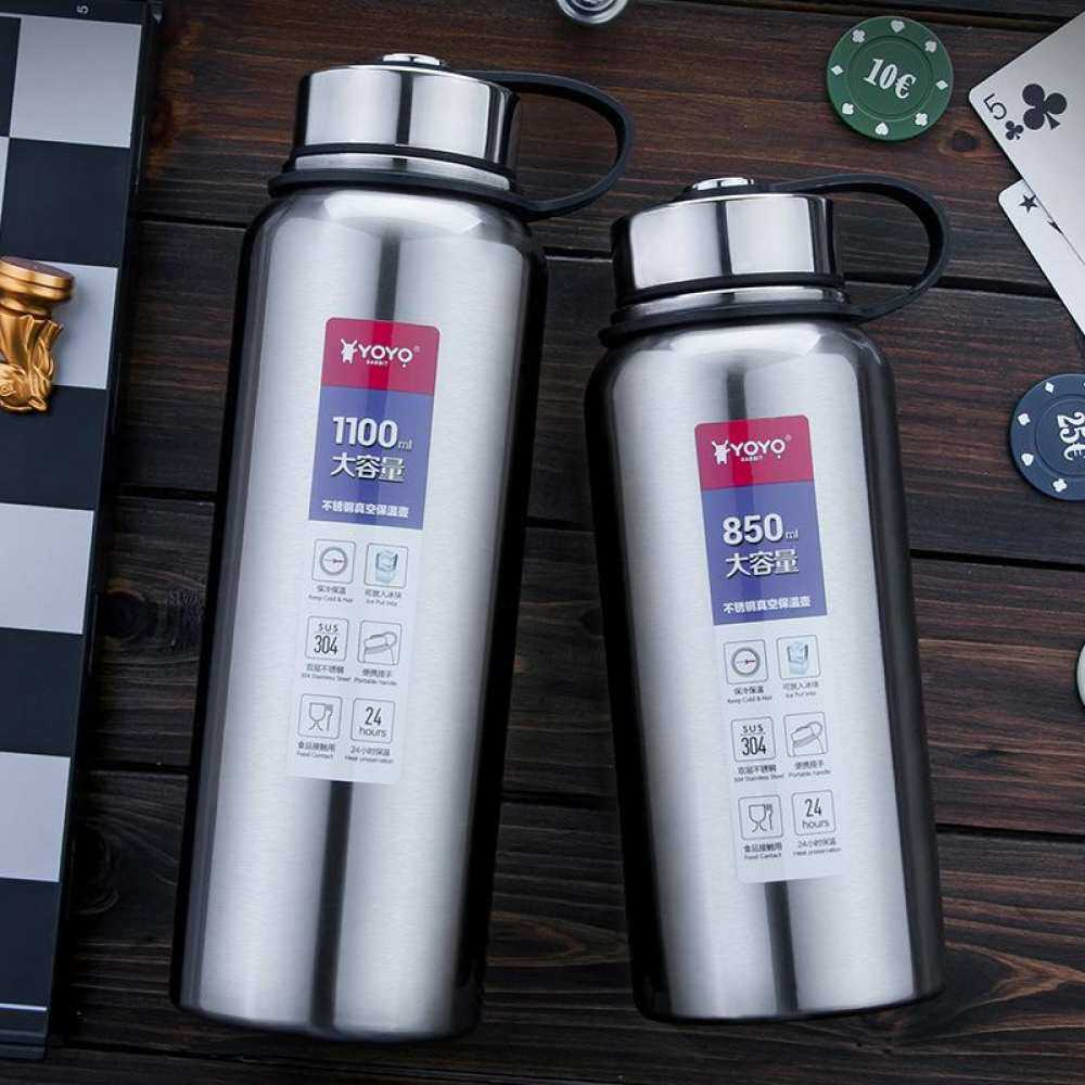 1000ml outdoor male portable glass insulated long cup