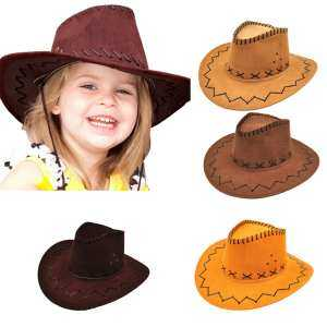 Hình ảnh Halloween Style Western Cowgirl Cowboy Hat For Boys Gilrs Party Costumes - intl