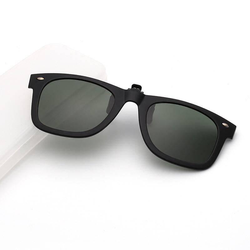 Yika Produk Baru Kacamata Hitam Clip On Unisex Kacamata Polarisasi Anti-Lensa Reflektif Matahari Kacamata
