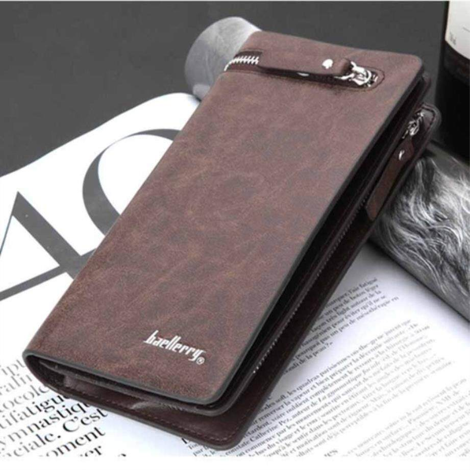 Wallet Men Top Quality Male Clutch Big Capacity Cellphone Bag Pu Leather Zipper Pocket Card Holders Man Purse Long - intl