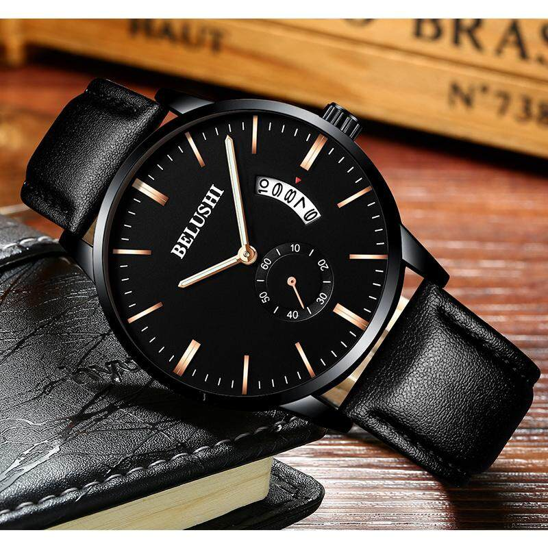 Stylish guy's Stylish leather man student's quartz watch watches New Style watch watches