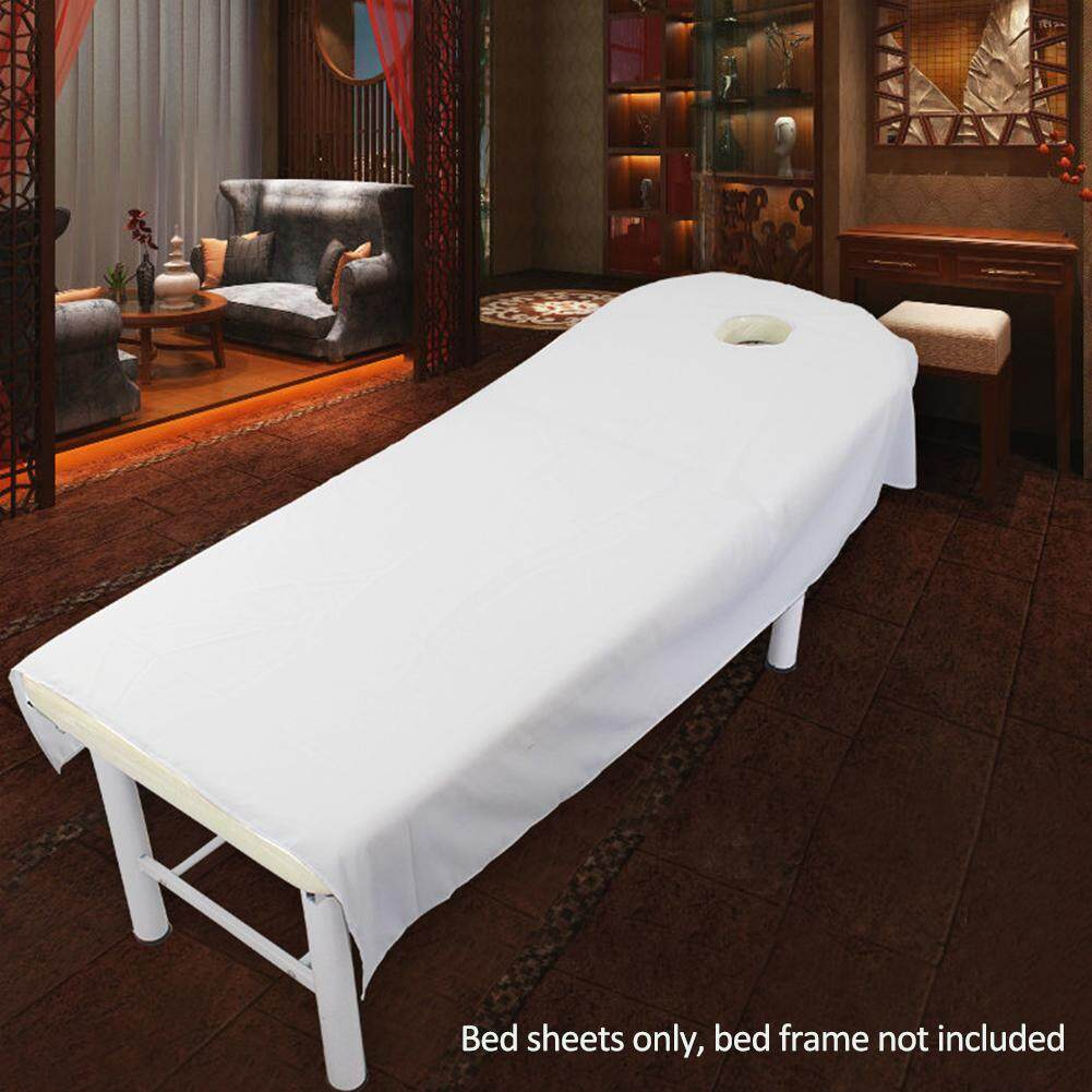 1 Pc Massage Bed Table Soft Cover Salon Spa Couch Sheet Bedding With Hole