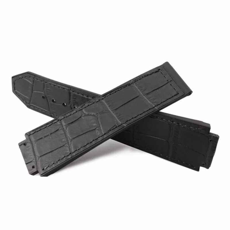 AnyTop Crocodile Leather Design Rubber Replacement Strap Strap (FIT) Hublot Big Bang