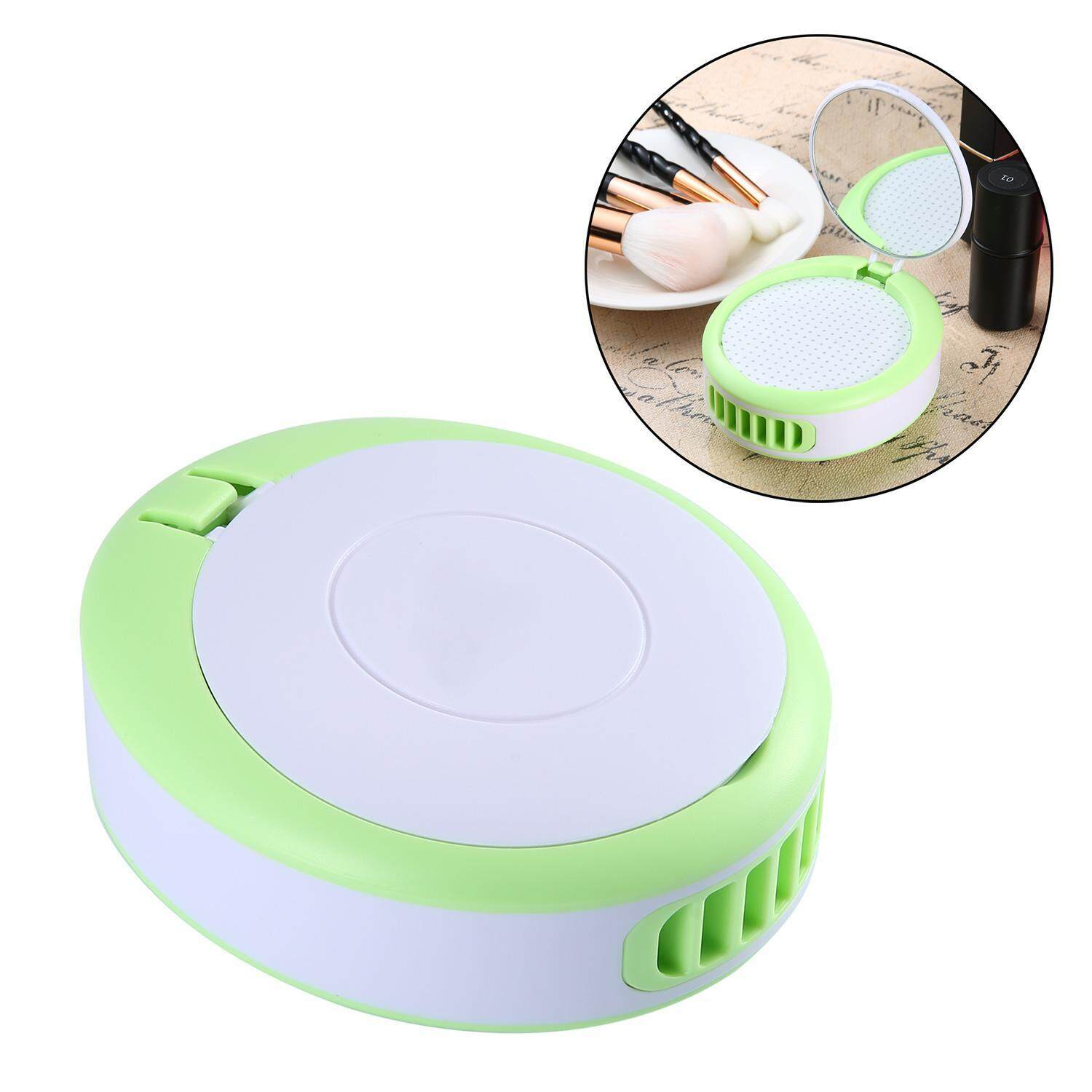 XUNMEI Summer Cooler Mini Portable Usb Fan Handheld Bladeless Fan With Makeup Mirror(Green) - intl