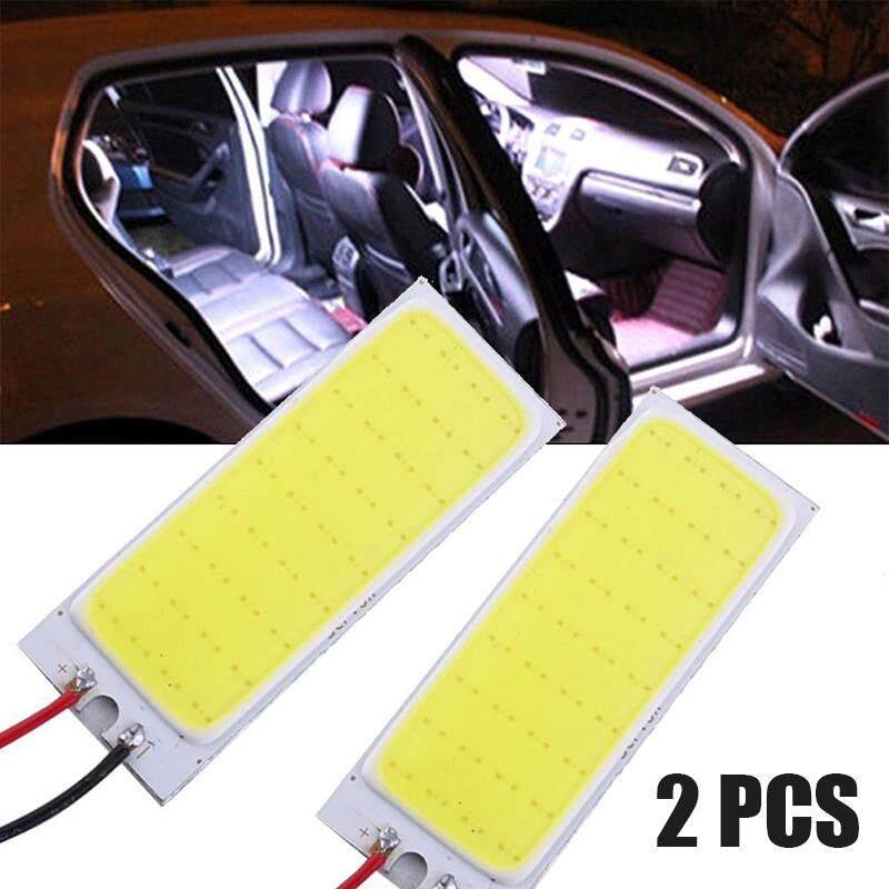 2PCS HID 36 COB LED Car Interior Panel Lamp Dome Map Bulb Light Xenon White 12V