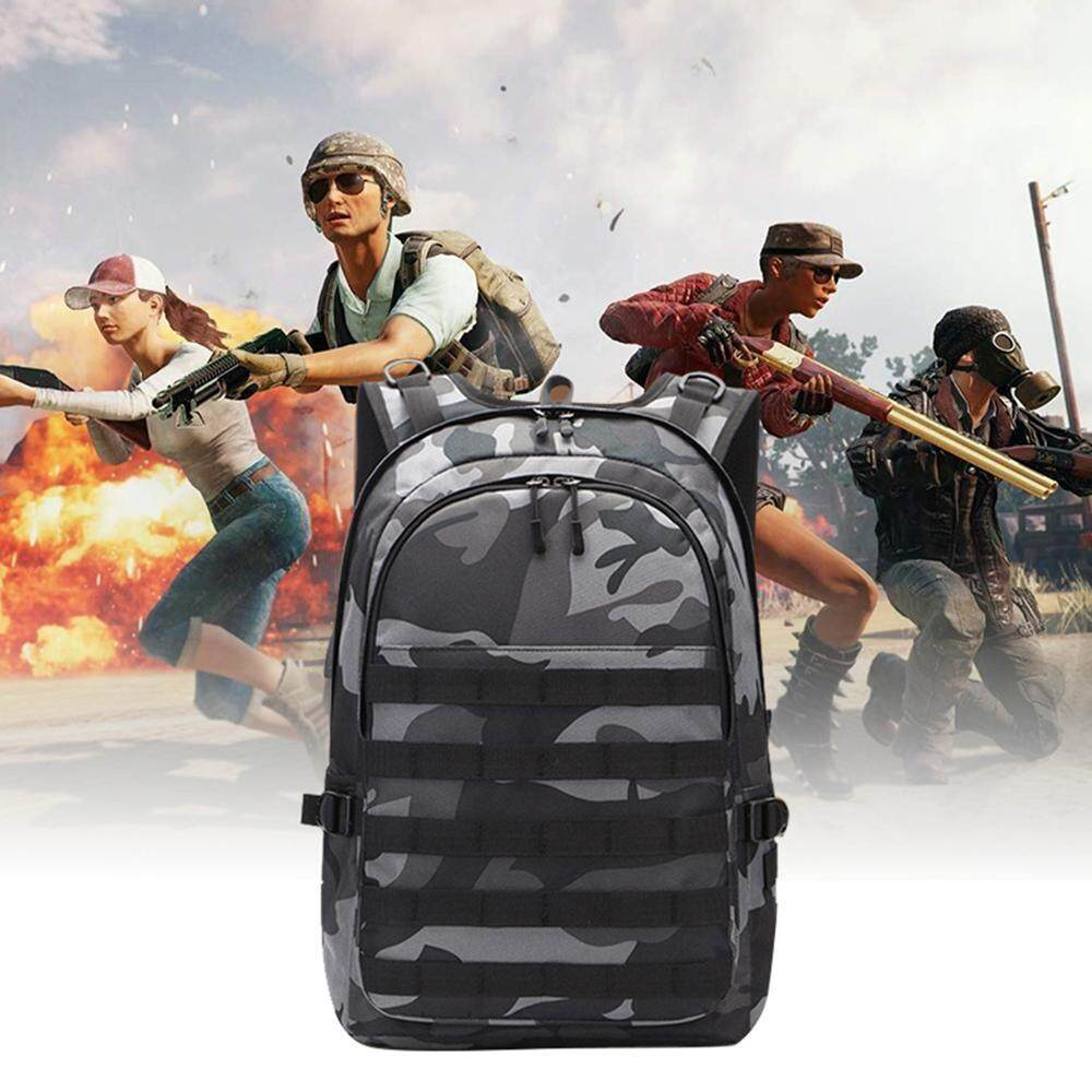 Rodeal PUBG Level 3 Laptop Backpack 15.6 Inch For Men Women,Business Computer Bag,Water Repellent Anti Theft College School Travel Backpacks With USB Charging Port Headphone Port,Luggage sleeve - intl