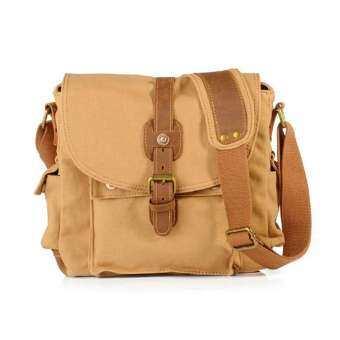 OutFlety VINTAGE กระเป๋าผ้าใบกระเป๋าสะพาย Unisex Retro Casual กระเป๋าสะพายไหล่สำหรับผู้ชายผู้หญิง-