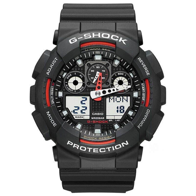 นครศรีธรรมราช 【 STOCK】Original _ Casio_G-Shock GA-100 Duo W/เวลา 200M กันน้ำกันกระแทกและกันน้ำโลกนาฬิกากีฬาไฟแอลอีดีอัตโนมัติ Wist นาฬิกากีฬาสำหรับ MenGA-100-1A4