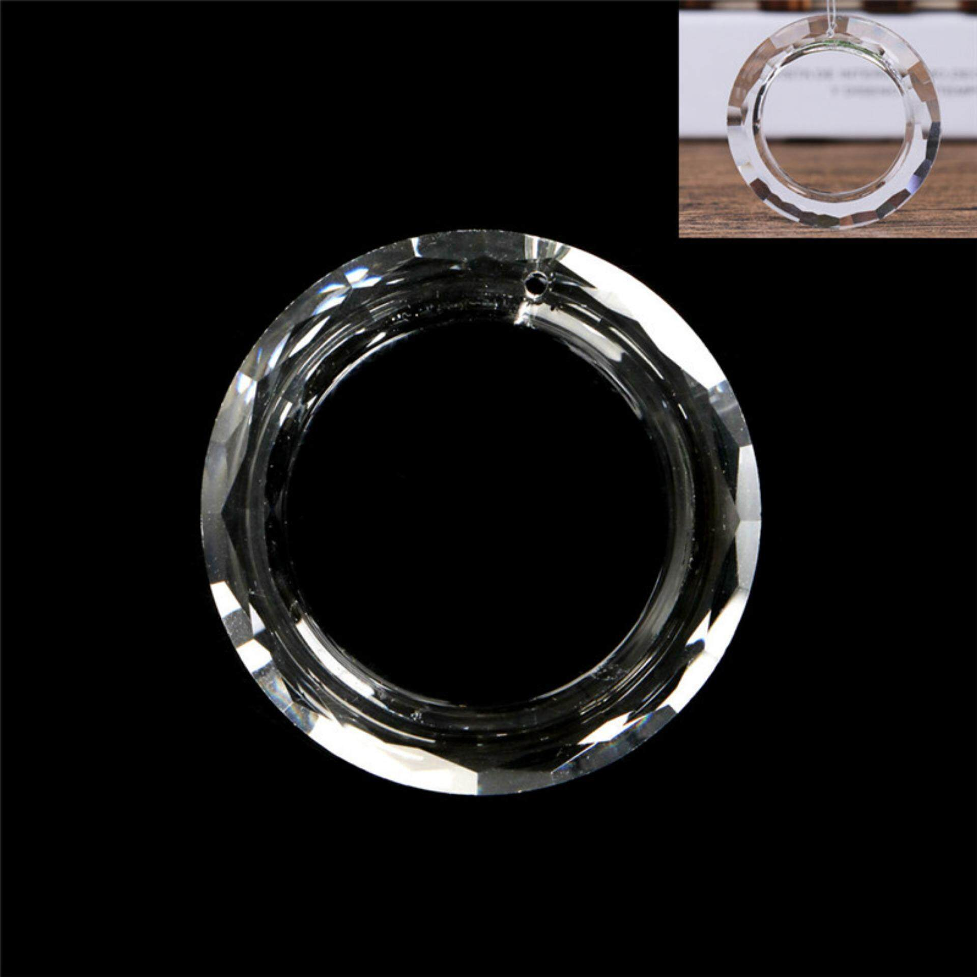 50mm Crystal Hanging Ring Chandelier Glass Pendant Home Room Decoration Gift - intl