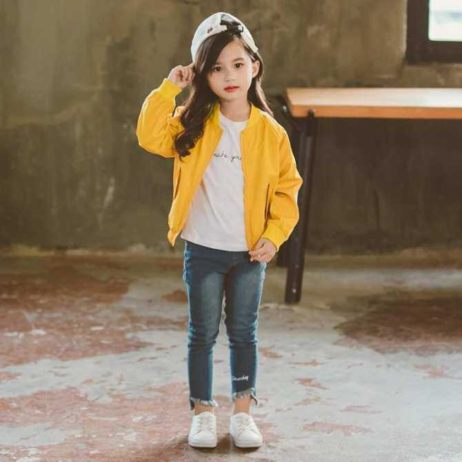 56e8f24833a9 Korean Style Children Versatile Jacket Big Boy Western Style Baseball  Uniform Girl's Coat Spring And Autumn