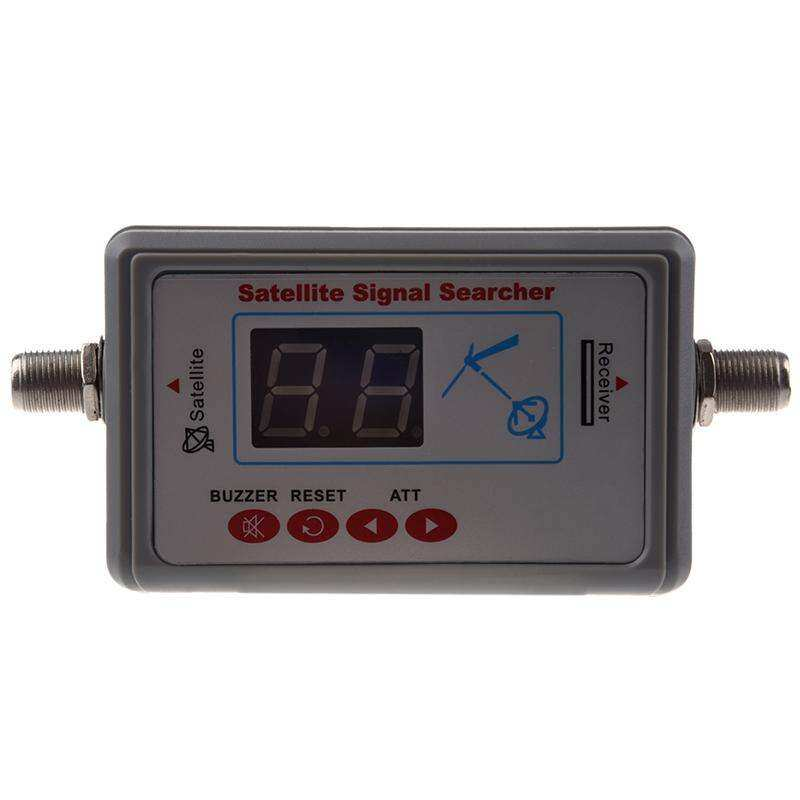 Digital Satellite Signal Finder Meter for Dish Net work Directv FTA gray