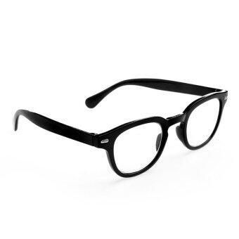 1PC Men Women Retro Round Frame Rimed Reading Glasses Eyeglasses +1.0 ~+4.0 (Black,350)