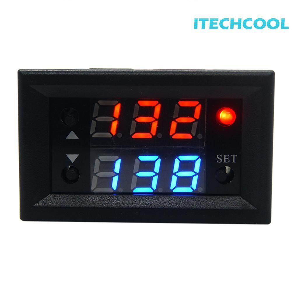 12V Timing Delay Relay Module Cycle Timer Digital LED Dual Display 0-999 hours