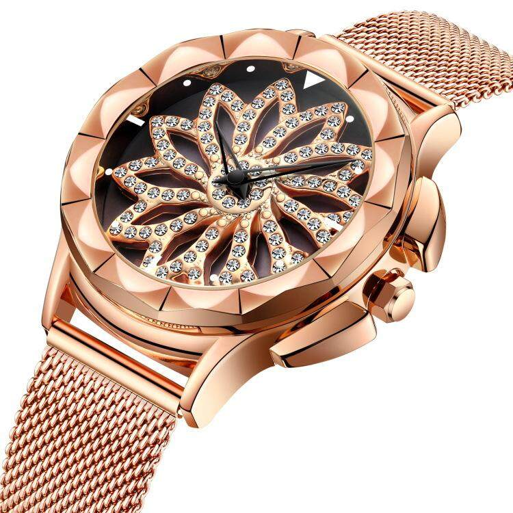 Lady Diamonds Waterproof Quartz Wrist Watch Japan