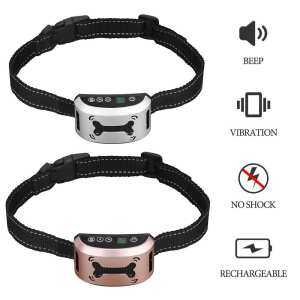 Hình ảnh Costel Rechargeable Anti Bark Collar Dog Training Collar(White) - intl