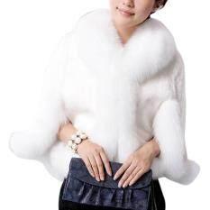 Phụ nữ Áo Choàng Sang Trọng Khoác Ngoài Lông Xù Áo Khoác Ấm Nữ Áo Ngắn Thời Trang