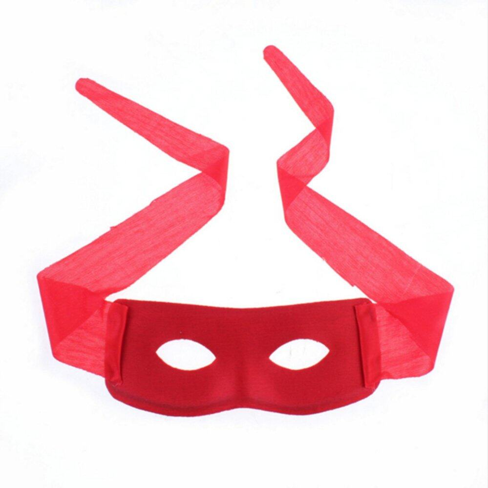 Bandit Zorro Masked Man Eye Mask for Theme Party Masquerade Costume Halloween Red