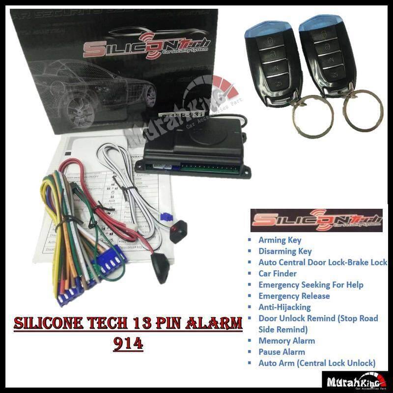 Car Alarm S914 - High Quality Car Security System (13 PIN) Silicone Tech