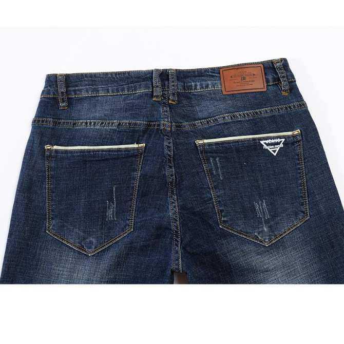 Người đàn ông 2018 gracilis KSTUN jeans hiệu thương mại erecta Leisure xanh thẫm mỏng lực đàn hồi bông quần Jeans