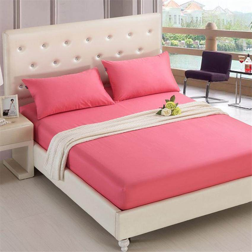 รีวิว TTLIFE 1 PC Polyester Super Soft Solid Color Fitted Sheet Mattress Cover Bedding Cover Color as Picture Shown Color family : ดำ ขนาดเตียง : ขนาดใหญ่
