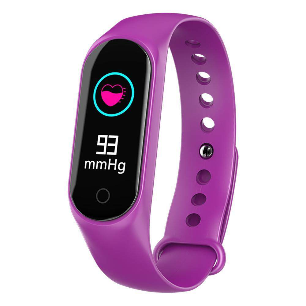 niceEshop Multifunction Smart Bracelet, M3S Waterproof Activity Tracker Watch Fitness Tracker HR Watch With Bluetooth, Heart Rate Monitor For IOS, Android Kids, Men, Women  สายรัดข้อมือเพื่อสุขภาพ อุปกรณ์ไอทีสวมใส่