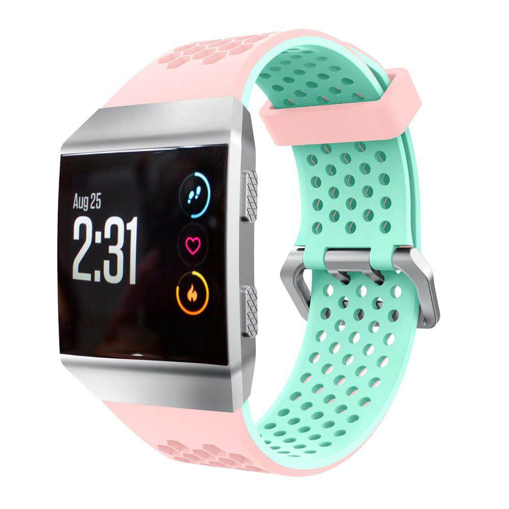 Lightweight Ventilate Silicone Perforated Accessory Sport Bands for Fitbit Ionic