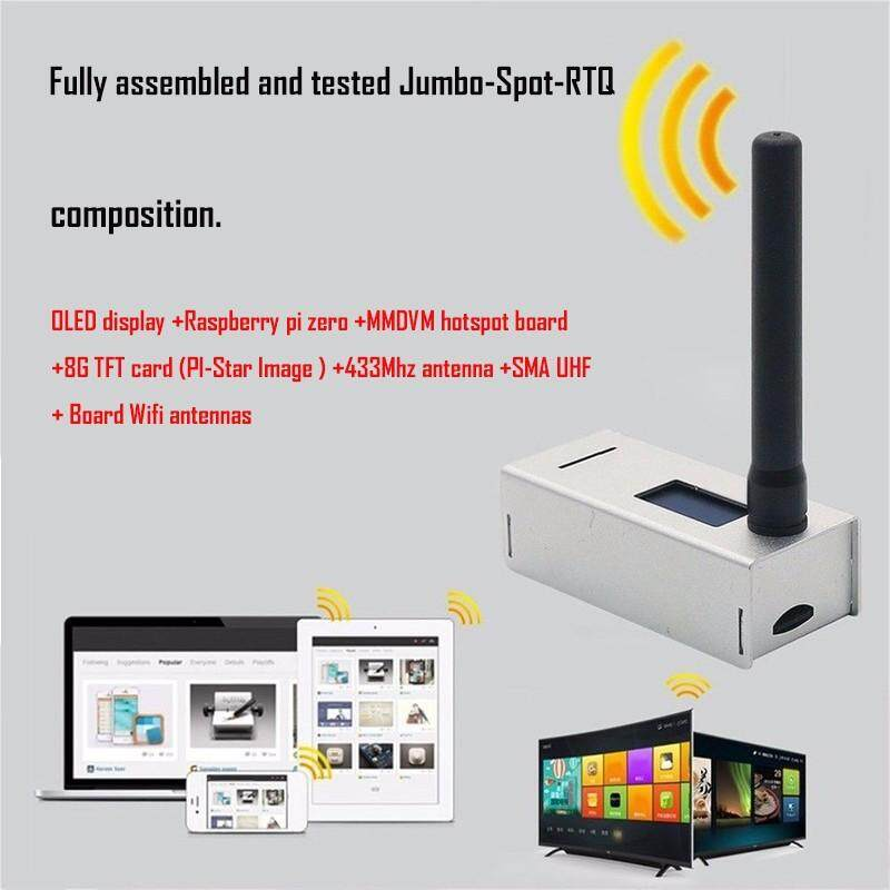 XJING Up to 10mW RF Power Fully Assembled and tested Jumbo-Spot-RTQ 8G Card  + US MMDVM Hotspot Support P25 DMR YSF + Raspberry Pi Zero + OLED +