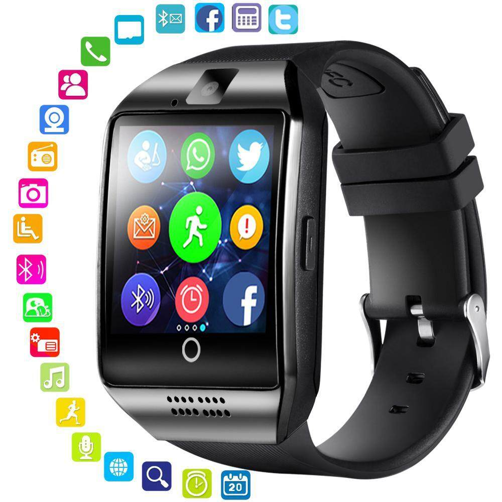 Bluetooth Smart Watch with Camera, Q18 Touch Screen Smartwatch with Sim  Card Slot Fitness Activity Tracker Sport Watch for Android/IOS