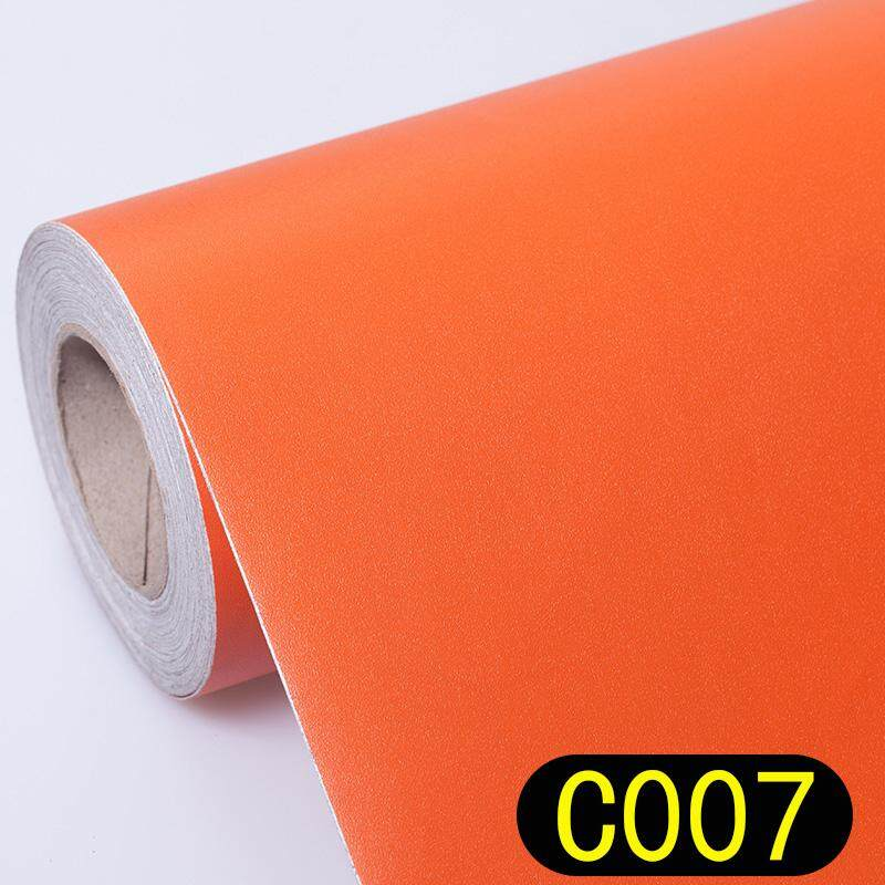 PVC Color Wallpaper Self-Adhesive Plain Color Wallpaper Simple Warm Dormitory Bedroom Waterproof Dull Polish Furniture Renovation Adhesive Paper