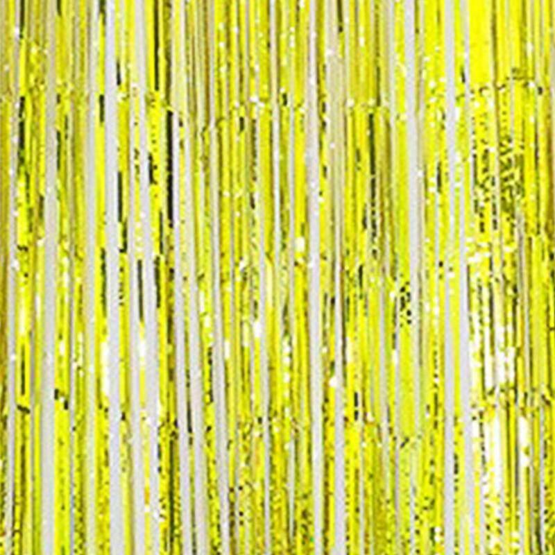 1M Metallic Fringe Curtain Party Foil Tinsel Home Room Decor Door Decoration