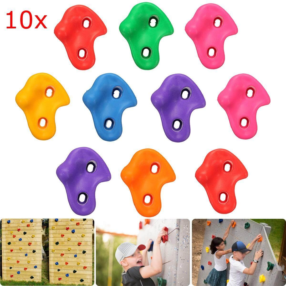 10Pcs Textured Climbing Rock Wall Stones Kids Assorted Color Assorted Kit Bolt