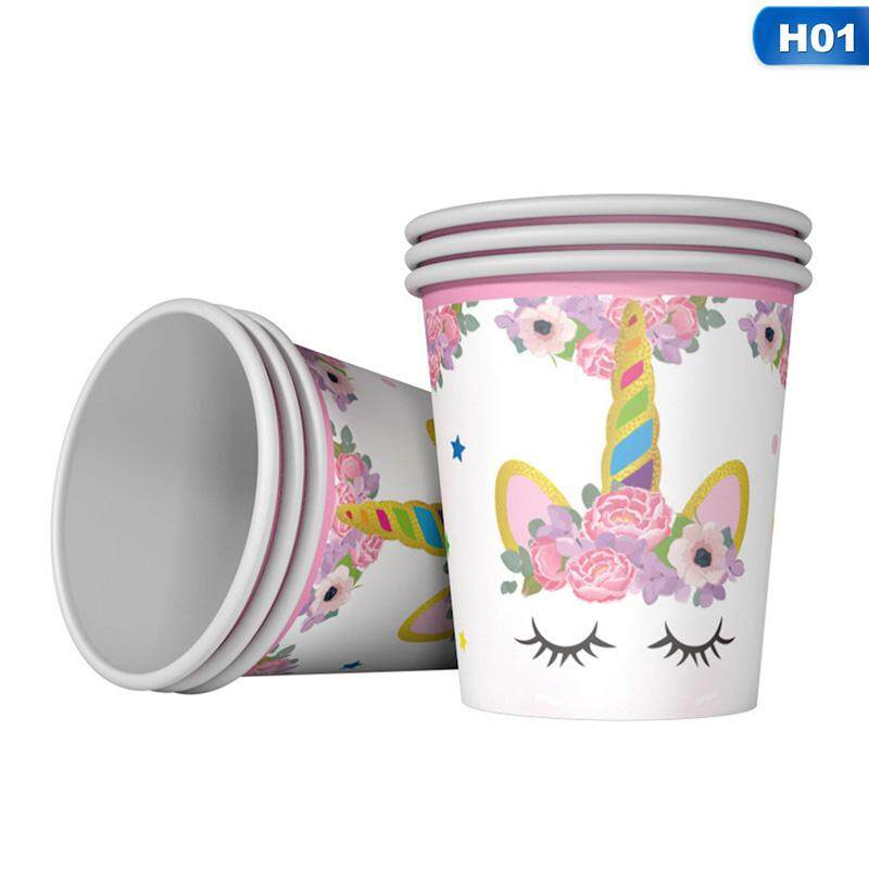New Lovely Unicorn Printing Fashion Birthday Party Decorative Items H01