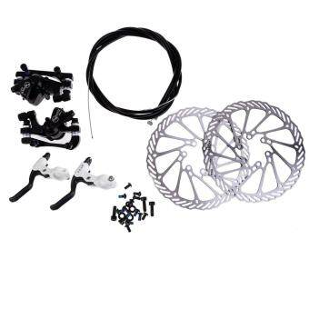 Black NWQ-1 Bicycle Disc Brake Set Kit G3 Rotors 160mm Brake Levers Cable