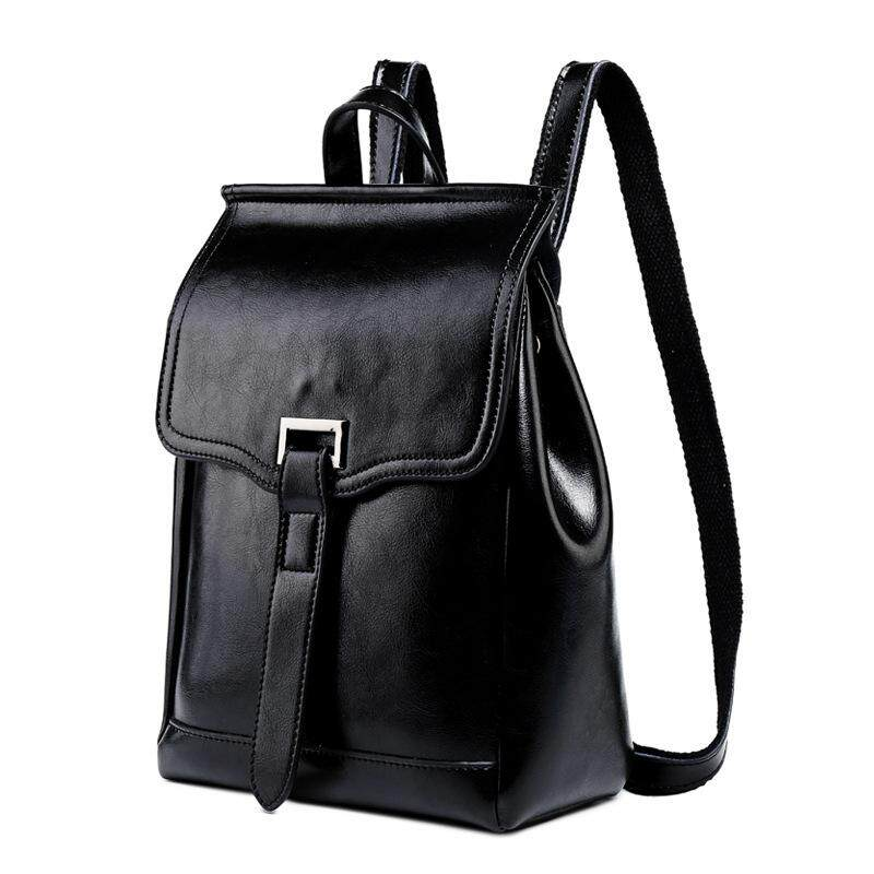 Women's fashion casual leather backpack