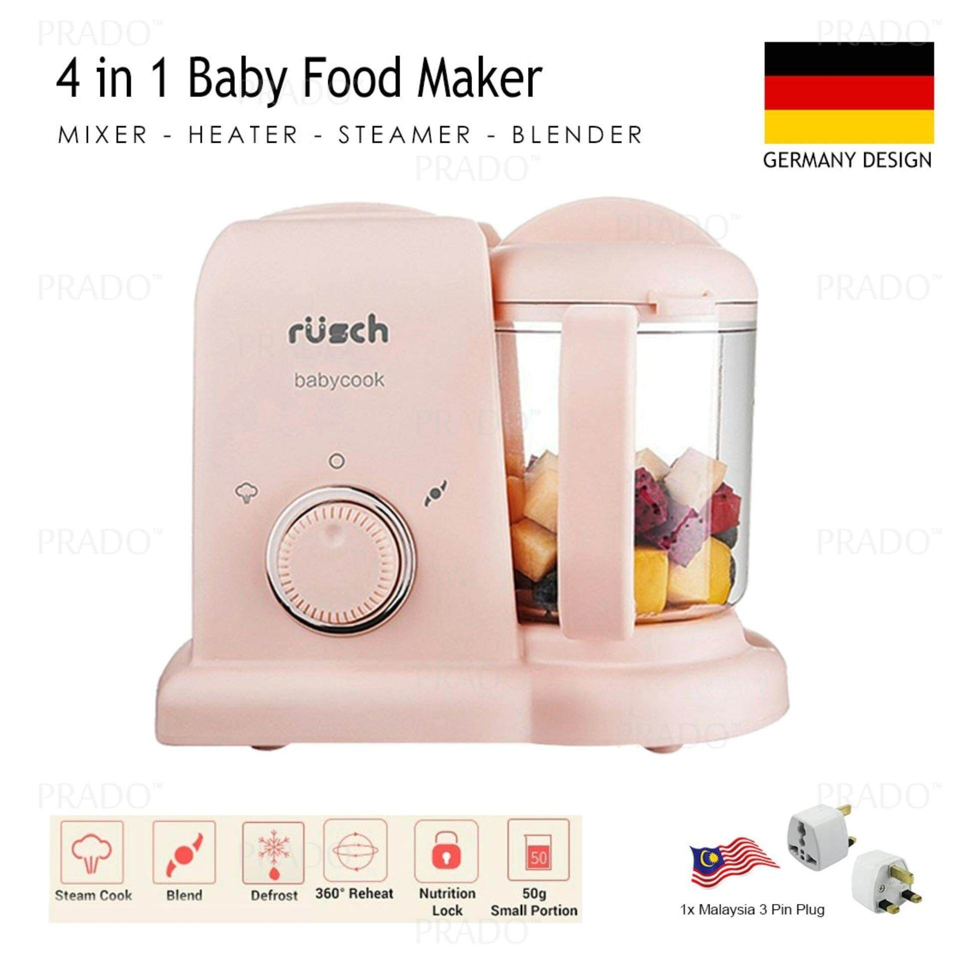 PRADO Malaysia Germany Rusch 4 in 1 Baby Food Maker Mixer Grinder Heater Steamer Blender Babycook baby food processor image on snachetto.com