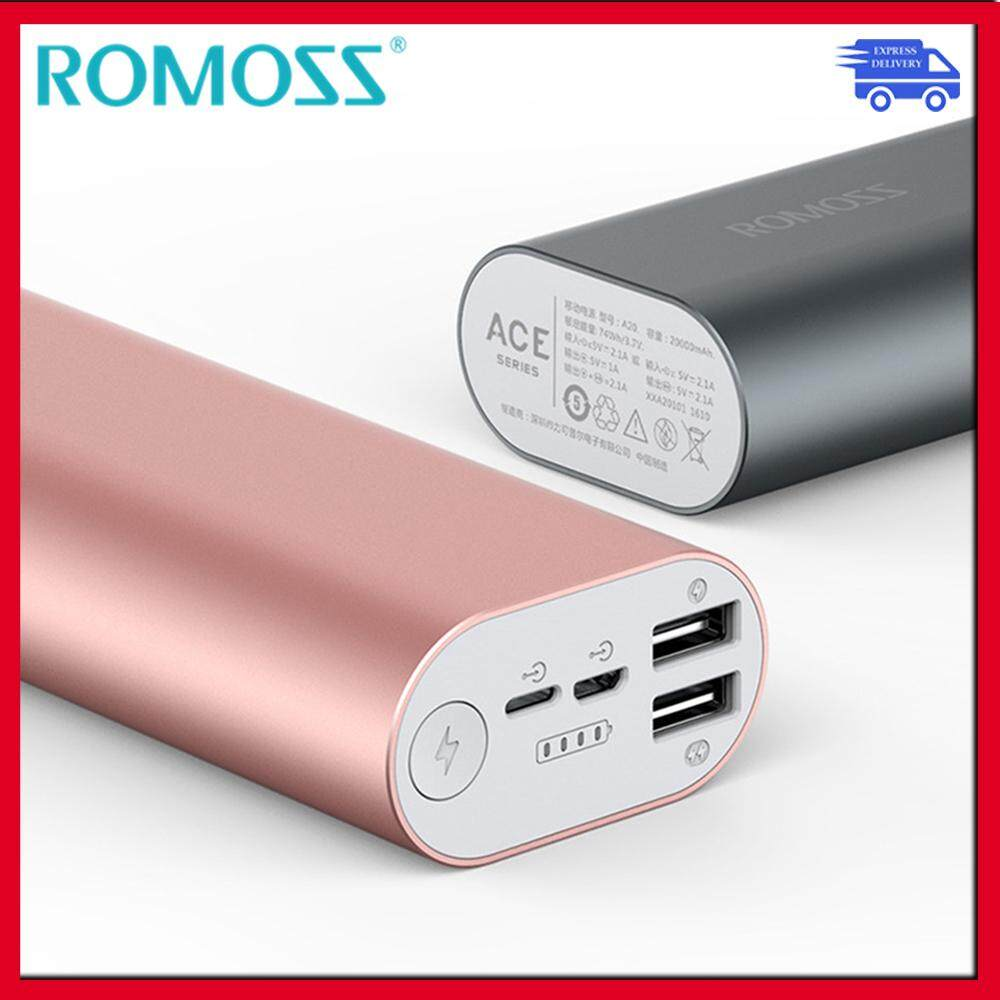 ROMOSS ACE SERIES 10,000mAH POWERBANK DUAL 2.1A IN/OUTPUT POWER BANK
