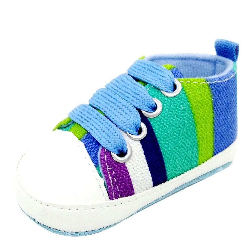 Cocol Max Sepatu Bayi Sneaker Anti-Slip Sol Lembut Balita Kanvas Berwarna Sepatu BK11