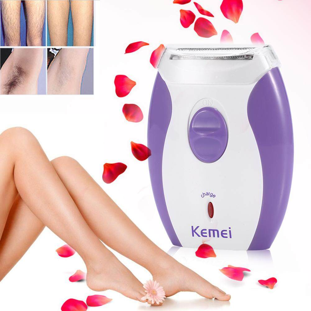 KEMEI Women Rechargeable Hair Removal Lady Electric Body Epilator Leg Arm Shave Machine