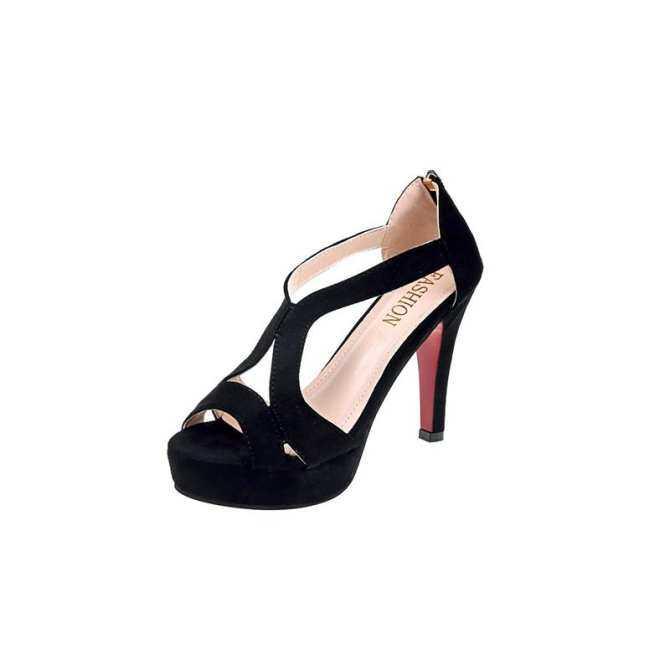 dd2c3bbef51a9 TLL Women Peep-toe Heeled Sandals Fine Suede Upper High Stiletto Heel S  Platform Heels